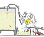 Illustrazione del processo di chiarifica del vino
