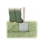 Incidere il terreno a metà tra i due tagli