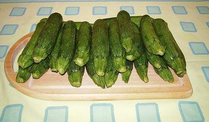 Zucchine pronte per essere cucinate