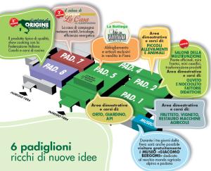 6 padiglioni Fiera Vita in Campagna Montichiari Brescia