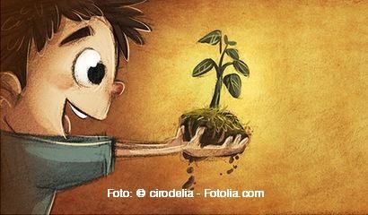 nio sembrando una planta